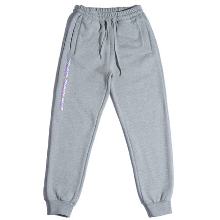 STV. 17 FONT LOGO SWEAT PANTS GRAY