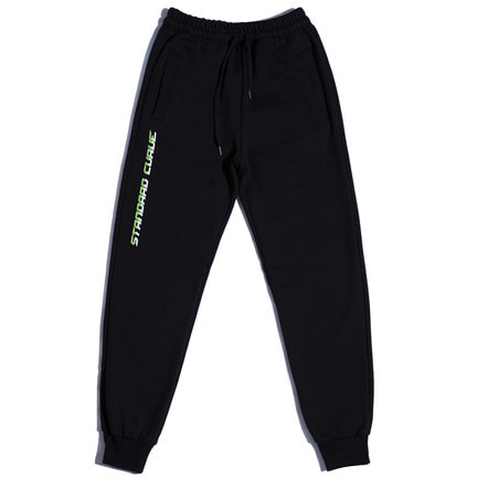 STV. 17 FONT LOGO SWEAT PANTS BLACK