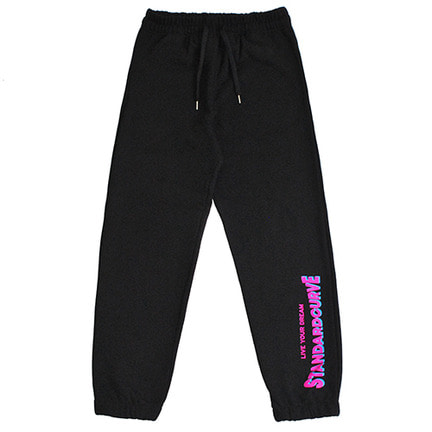 STV. 18 FONT LOGO SWEAT PANTS BLACK
