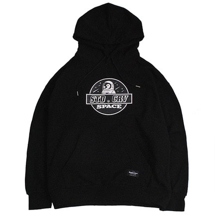 STV. SPACE PENGUIN HOODY BLACK