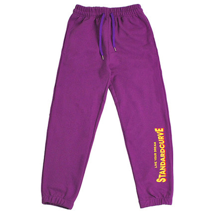 STV. 18 FONT LOGO SWEAT PANTS PURPLE